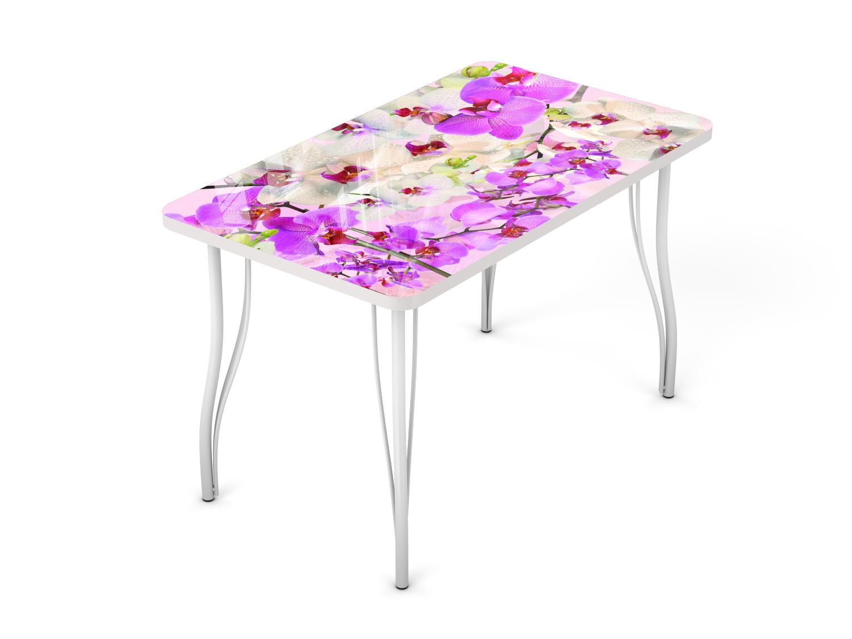 Стол кухонный рисунок орхидея